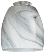 Westinghouse Lighting Shades 13cm - 0.6cm . Handblown Charcoal Swirl Shade with 5.1cm - 0.6cm . Fitter and 10cm - 2.2cm . Width 8140900