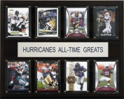 C & I Collectables 1215ATGUMH NCAA Football Miami Hurricanes All-Time Greats Plaque