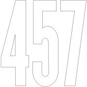Duro 401309 Permanent Adhesive Vinyl Numbers 10cm . -Gothic-Black