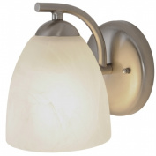 Quality Home Items 617634 Contemporary Fluorescent Lighting Collection, Bath Vanity 1-Light, Brushed Nickel