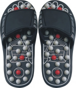 Living Healthy Products RS-004-01-S Small Reflexology Sandals Pearl in Black