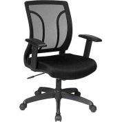 Office Star EM50727-3 Screen Back Chair with Mesh Seat with Height Adjustable Arms- Multiple