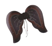 Costumes For All Occasions Fw90451Bbg Wings Goth Bk/Burgundy Glitter