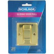 Ives SC990B-605 Bright Brass Finish Sliding Pocket Door Pull