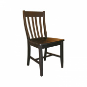 Whitewood C46-61P Dining Essentials Solid Wood Dining Chair - Black