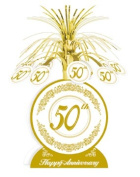 Beistle - 50516 - 50th Anniversary Centrepiece- Pack of 12