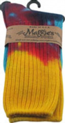 Maggies Functional Organics Socks Tie Dye Crew Singles Size 9-11 215601