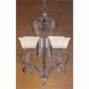 Weinstock Lighting 9881-5AG 5-Light Rustic Wall Sconce with Faux Alabaster Glass Shades - Autumn Gold