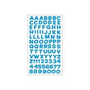 Sticko 474427 Sticko Alphabet Stickers-Funhouse Blue Metallic