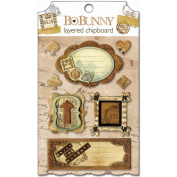 Bo Bunny 123643 Et Cetera Self-Adhesive Layered Chipboard