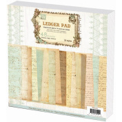 Ledger Paper Stack 30cm x 30cm 48 Sheets-16 Designs/3 Each