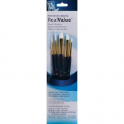 Real Value Brush Set Synthetic White Taklon-Round 1,4,Angular Shader 3/8,Shader 4,8