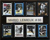 C & I Collectables 1215LEMIEUX8C NHL Mario Lemieux Pittsburgh Penguins 8 Card Plaque