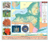 Universal Map 26373 New York Thematic Primary Wall Map K-2