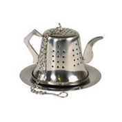 Tea and Coffee Accessories Tea Infusers Teapot with Tray 1 1/2 Stainless Steel 222397