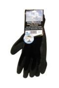 MAGID MGL408WTM Black Winter Knit Latex Coated Palm Gloves - Medium