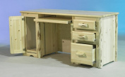 Montana Woodworks MWDP Computer Desk with 3 Drawers Tower Slideout - Ready To Finish