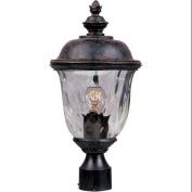 Maxim Lighting 3426WGOB Carriage House DC 1-Light Outdoor Pole/Post Lantern - Oriental Bronze
