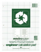 Roaring Spring Paper Products 95385 Recycled Engineering Pad - 24 Per Case