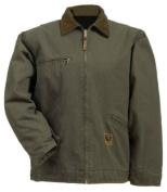 Berne Apparel J374ODR480 X-Large Regular Washed Gasoline Jacket Fleece Lined - Olive Duck