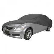 Classic Accesories 10-013-251001-00 Deluxe Polypro Iii Car Cover- Fits Mid Size Cars- Grey