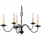 Livex 4465-04 Heritage Chandelier- Black