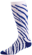 Pzazz Performance Wear 8090APWHTROYXS 8090AP Animal Print Knee High Sock - White with Royal - X-Small