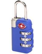 Lewis N Clark TSA23BLU Travel Sentry Combo Lock - Large 3 Dial - Blue