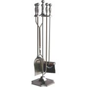 UniFlame Fireplace Tools 5 pc. Satin Pewter Fireplace Tool Set F-7547