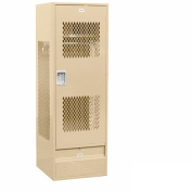 Salsbury Industries 72024TN-A Gear Metal Locker-Ventilated Door-Tan-Assembled
