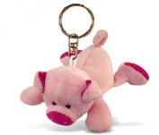 Soft Plush Pig Keychain Key Ring Chain Fob Holder Cute Fun Animal