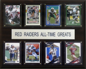 C & I Collectables 1215ATGTT NCAA Football Texas Tech Red Raiders All-Time Greats Plaque