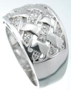 Plutus kkr5169a 925 Sterling Silver Platinum Finish Fashion Pave Band Size 6