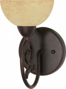 Nuvo Lighting 60-045 Tapas - 1 Light - 15.2cm . - Vanity - with Tuscan Suede Glass
