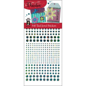 Hot Off The Press DAZ-1564 Dazzles Stickers -540 Teal Jewel