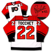 AJ Sports World TOCR111000 RICK TOCCHET Philadelphia Flyers SIGNED Retro Hockey JERSEY