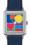 Arjang & Co PS-2008S-BL Mod Love Square -Watch