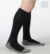 Juzo 2002RIADFF06 I Soft Ribbed Silver Sole Men's Knee Highs 30-40 mmHg Short - White