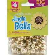 Fibre Craft 72-Pack Jingle Bells, 6mm-16mm, Gold