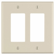 Leviton Mfg 005-80609-00T Light Almond Midway Size 2 Gang Decora Wall Plate