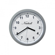 Silver Wall Clock With Hidden Safe - 25.4cm By 25.4cm