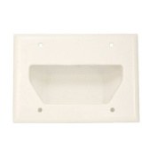 CMPLE 521-N Wall Plate- 3-Gang Recessed Low Voltage Cable- White