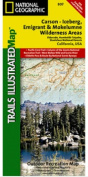 National Geographic TI00000807 Map Of Carson-Iceberg-Emigrant-Mokleumne Wilderness Areas - California