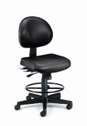 OFM 241-VAM-DK-606 Vinyl 24 Hour Computer Task Chair with Drafting Kit - Black