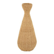 Distinctive Designs DB-423 Decorative Simple Weave Abaca Vase in a Natural Finish