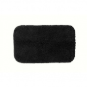 Garland Rug PRE-2440-17 Finest Luxury 24 in. x 40 in. Ultra Plush Washable Nylon Rug Black