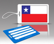 Insight Design 770533 TagCrazy Luggage Tags- Chile Flag- Set of Three