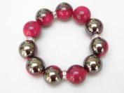Alur Jewelry 16262FA False Ceramic Bracelet in Fuchsia