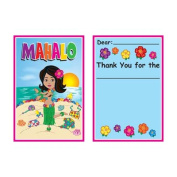 Beistle 58306 Hula Baby Thank You Notes - Pack of 12