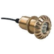 Perko Space Saver Thru - Hull Mount Underwater Light - Polished Brass - 0175DP3PLB